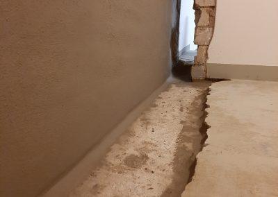 Hohlkehle bei einer Kellerabdichtung