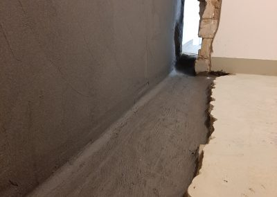 Flächenabdichtung bei einer Kellerabdichtung